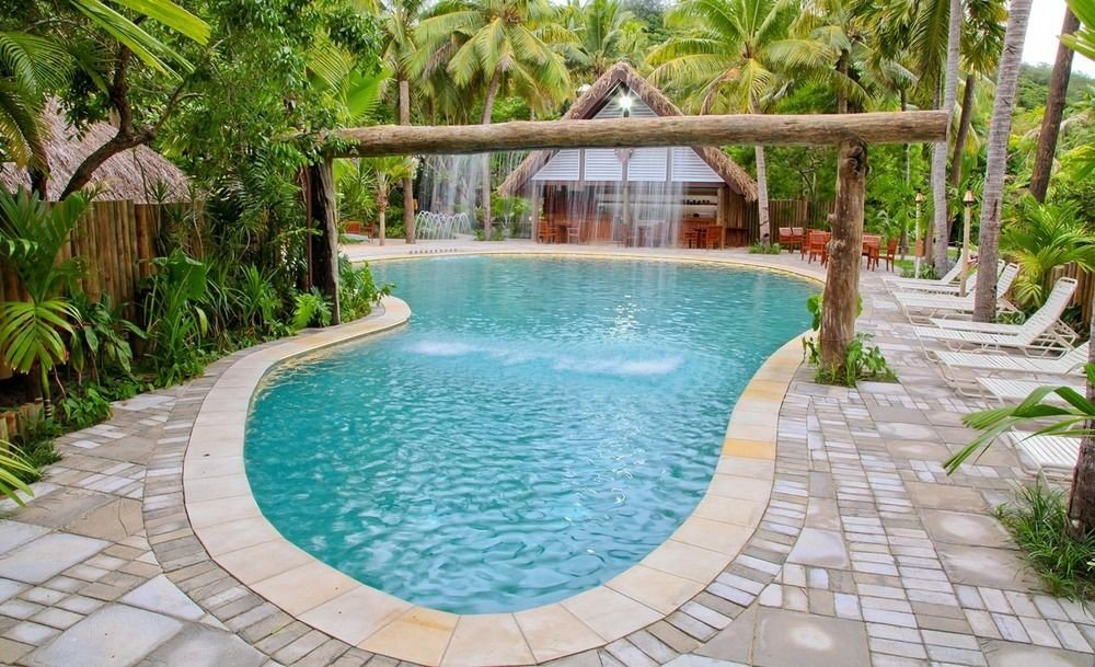 tree ground swimming pool property Resort building Pool backyard Villa eco hotel