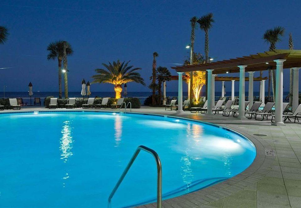 sky water Pool Resort swimming pool property leisure condominium resort town Villa blue empty palm swimming