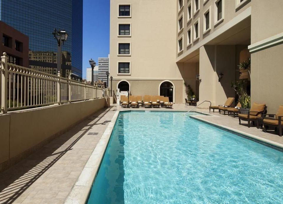 building swimming pool property leisure condominium Villa Pool Resort platform blue