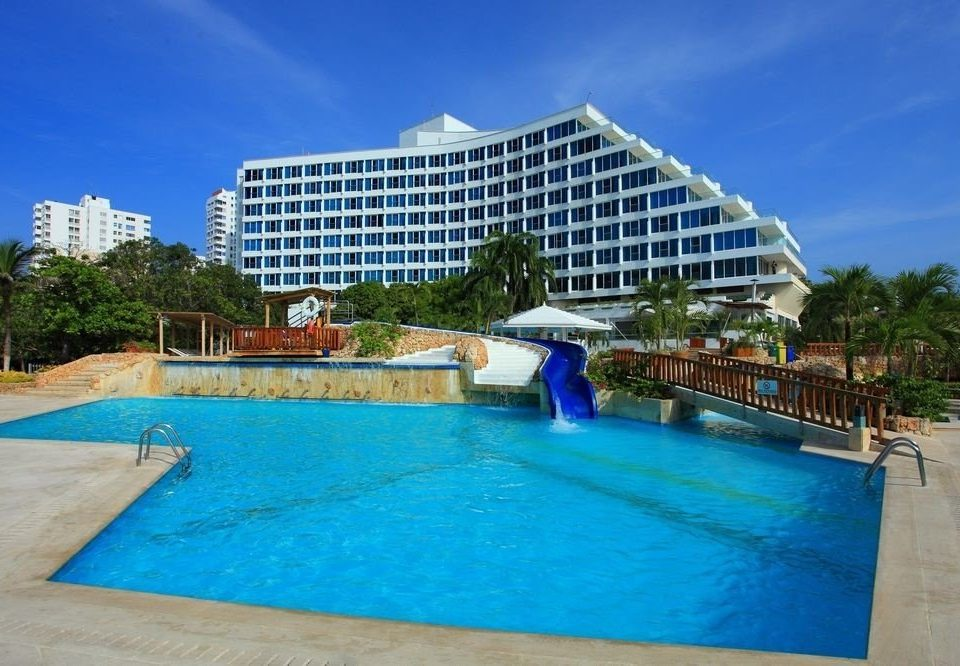 sky ground water swimming pool Pool property Resort leisure blue condominium resort town Villa swimming