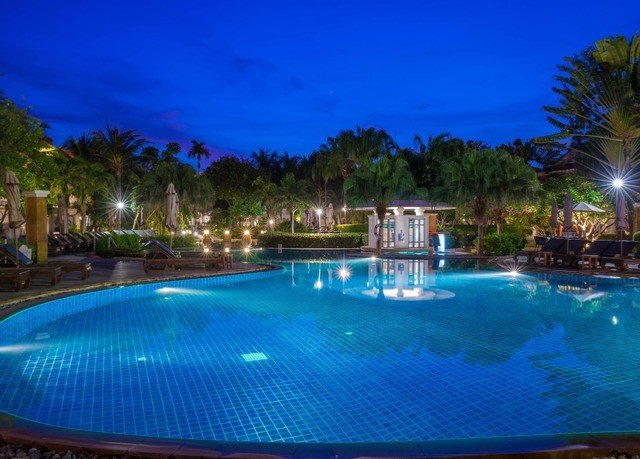 tree sky water swimming pool property Pool Resort blue leisure light resort town Villa condominium night lined swimming