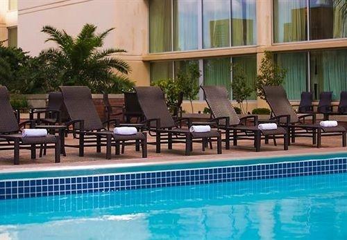 chair Pool building property swimming pool leisure condominium Resort Villa blue swimming