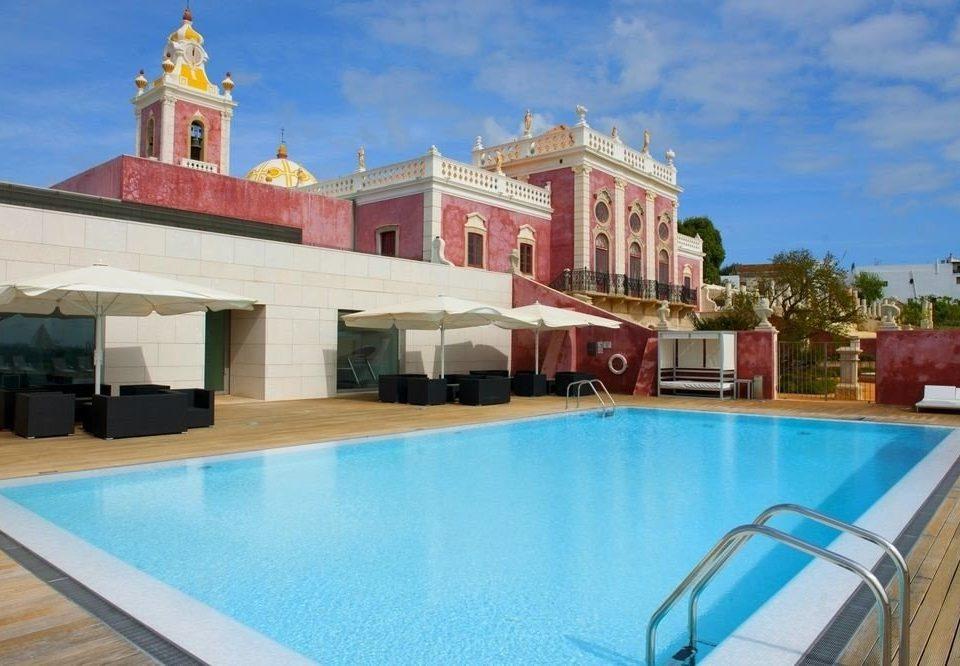 swimming pool property building Pool leisure Villa Resort mansion palace blue hacienda swimming