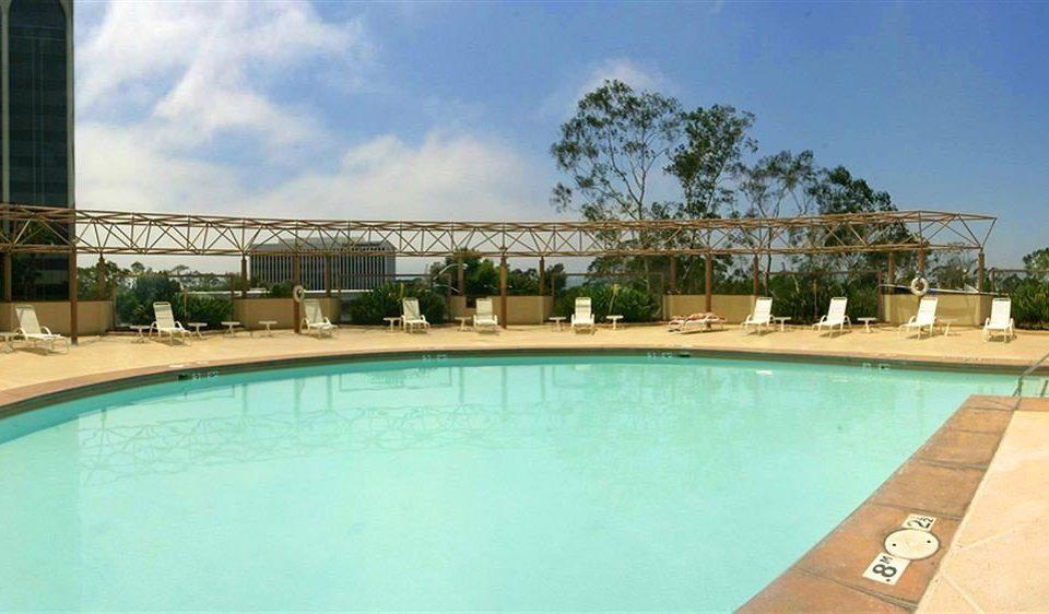 sky swimming pool property condominium Resort Pool Villa mansion hacienda blue