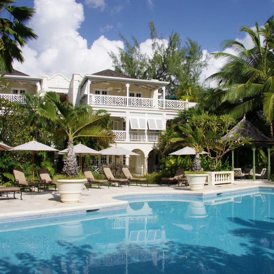 tree Resort swimming pool property leisure Pool condominium caribbean Villa mansion resort town home swimming