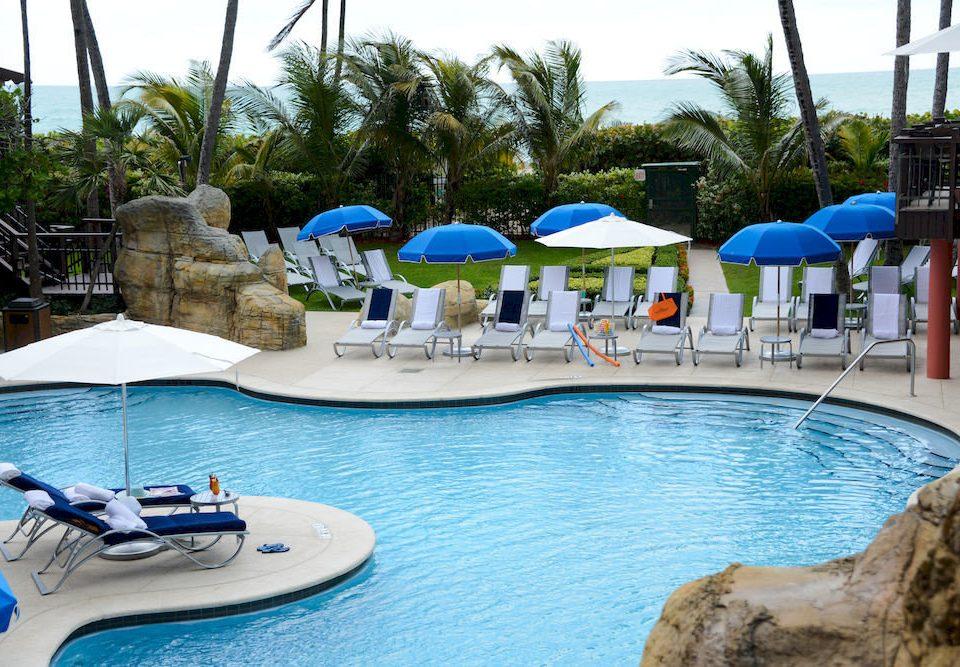 Pool Resort Waterfront tree sky water leisure swimming pool Water park backyard Villa swimming blue amusement park