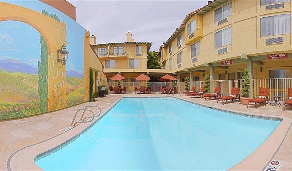 ground building swimming pool property leisure ramp Resort Pool mansion Villa condominium hacienda Water park
