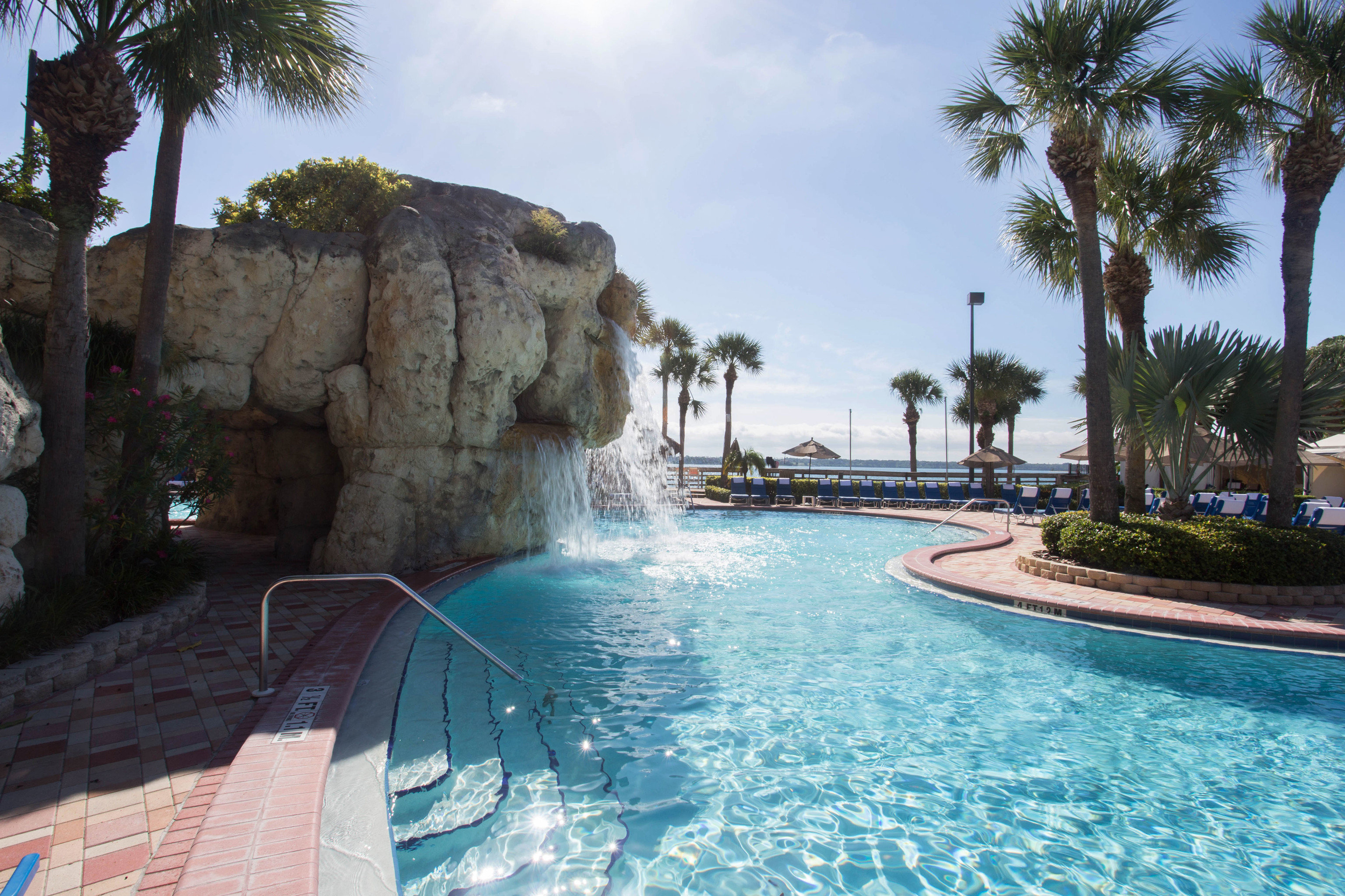 tree sky swimming pool property Resort Pool resort town Villa Water park palm plant