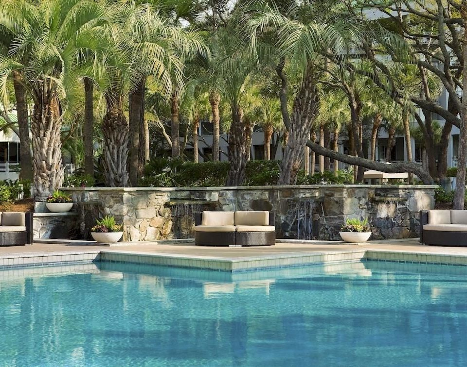 Resort Waterfront tree water swimming pool property Pool condominium reflecting pool backyard Villa mansion swimming plant