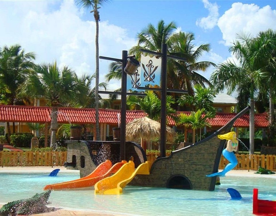 tree sky amusement park Water park water leisure park Resort swimming pool Pool outdoor recreation recreation resort town nonbuilding structure orange colorful swimming