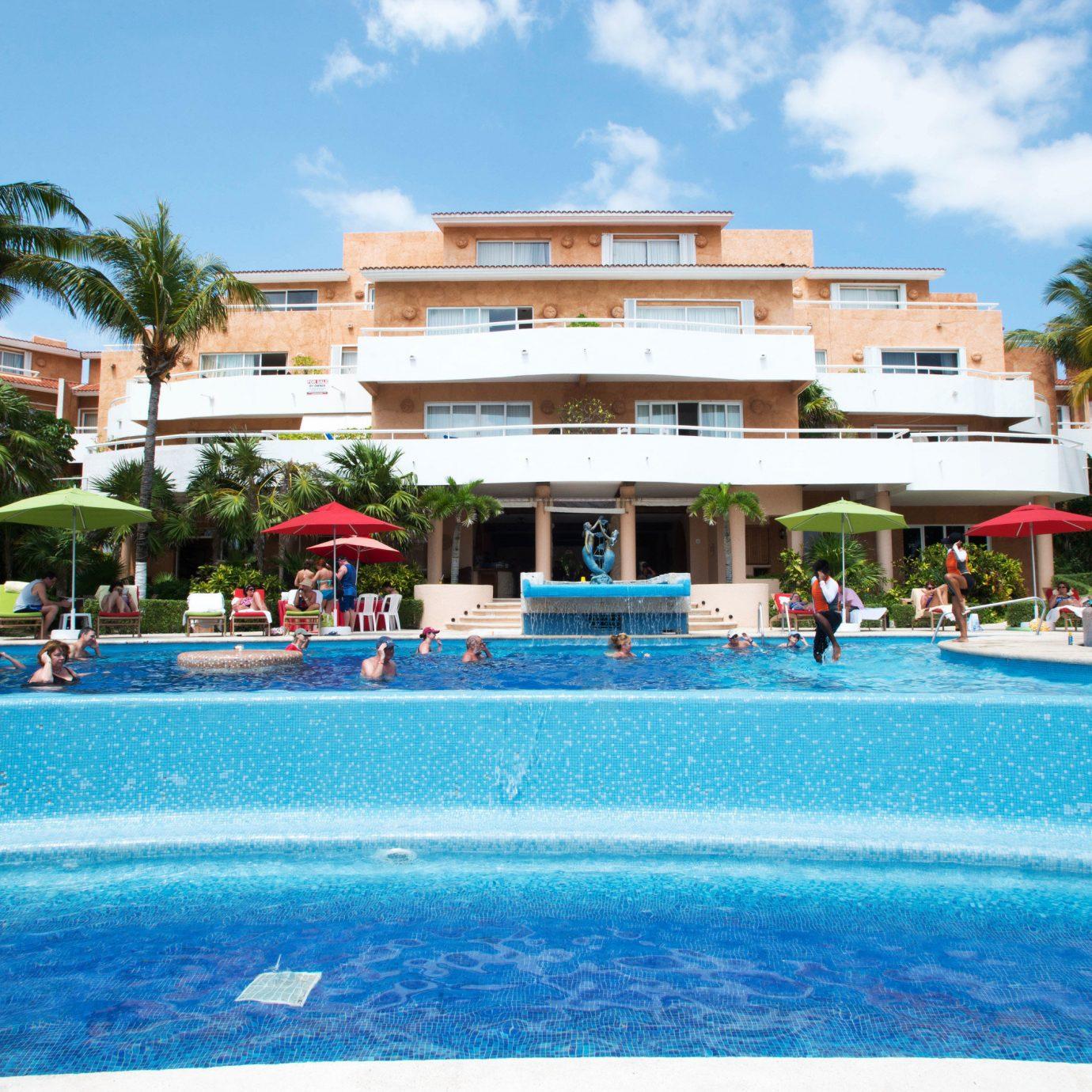 sky swimming pool leisure Resort property blue Pool resort town Water park caribbean condominium swimming