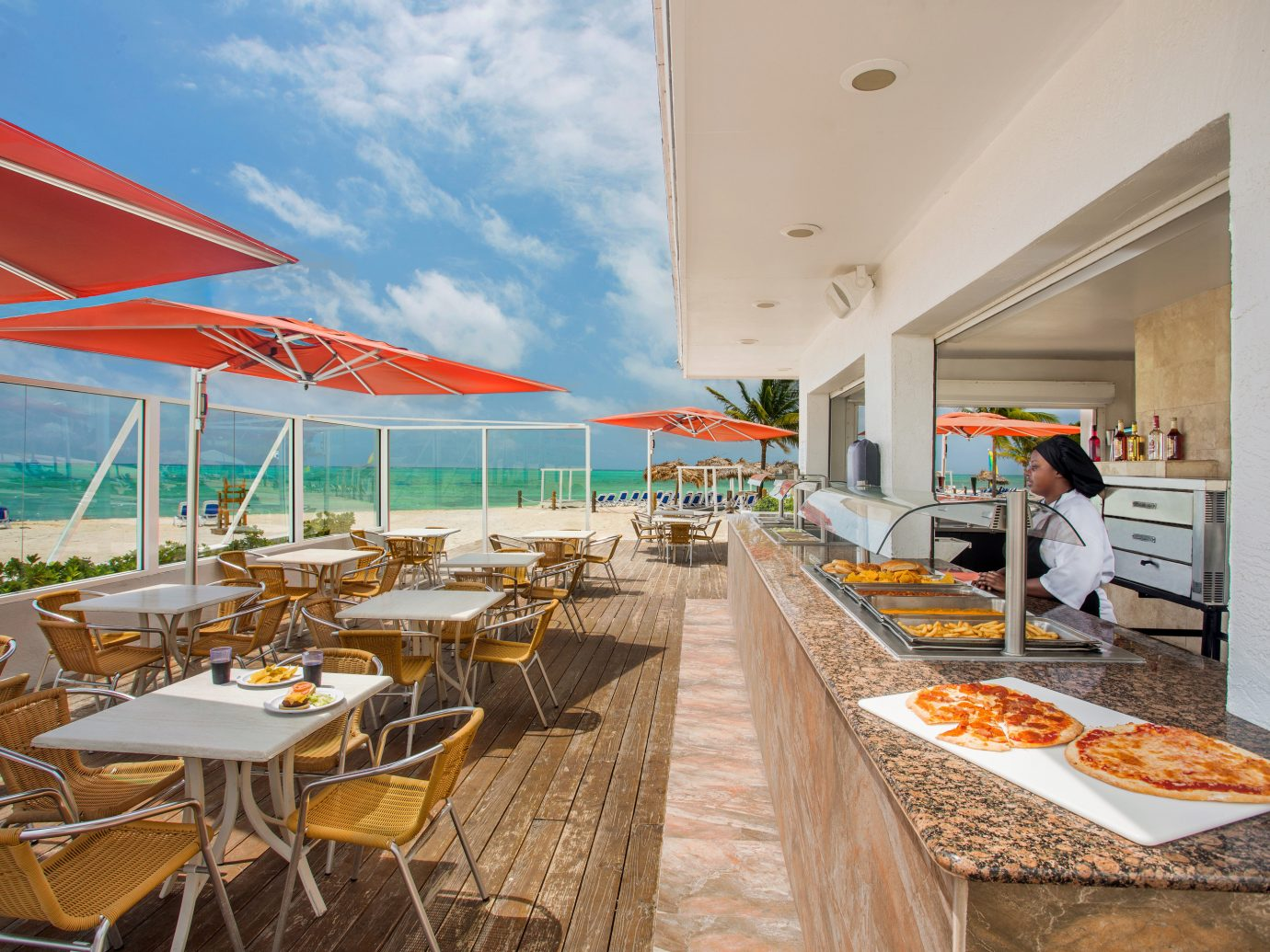 Outdoor restaurant at Viva Wyndham Fortuna Beach