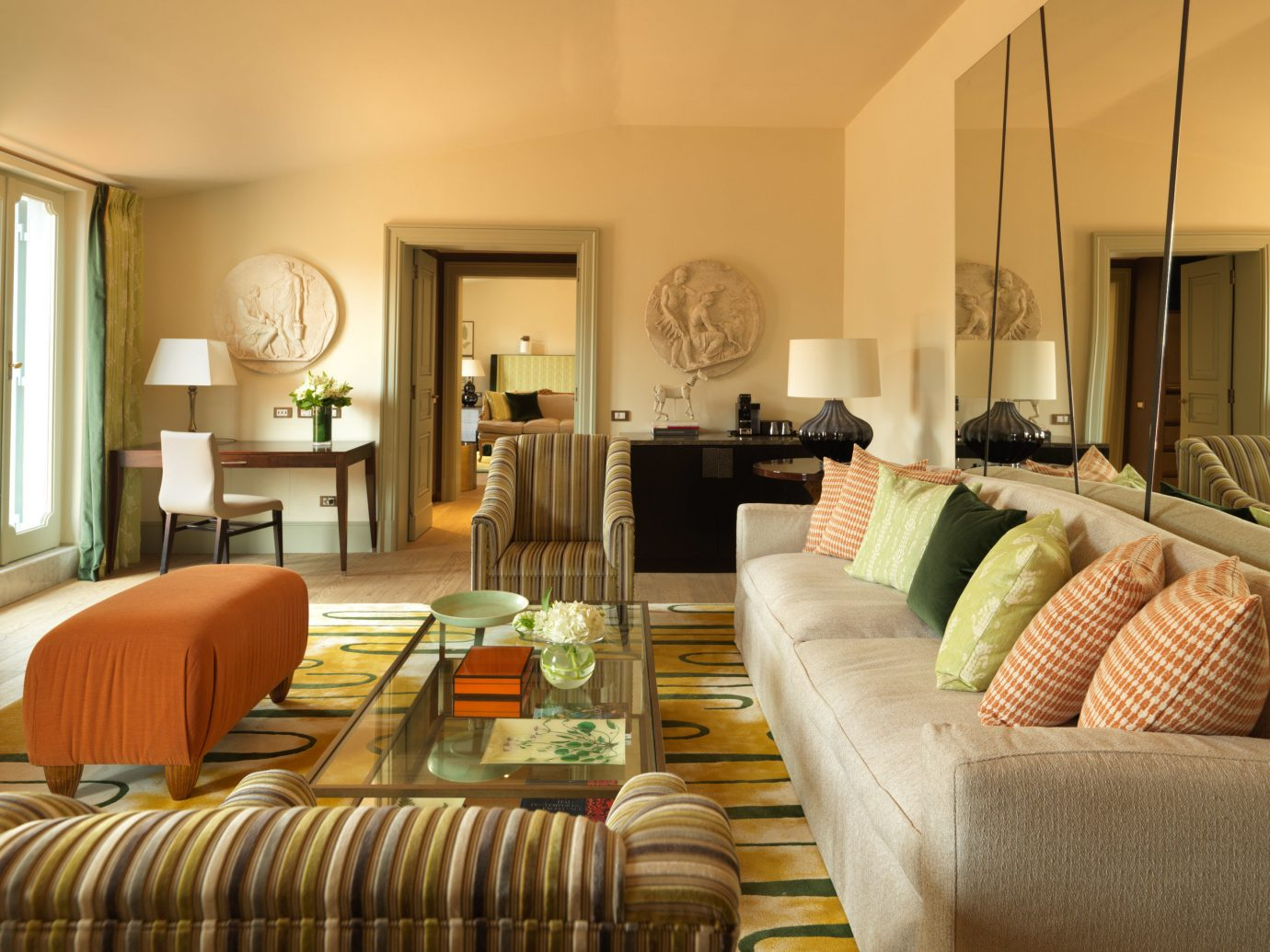 Boutique Hotels Italy Luxury Travel Romantic Hotels Rome sofa Living indoor room wall floor living room property furniture estate home Suite interior design real estate condominium cottage Villa decorated area flat leather