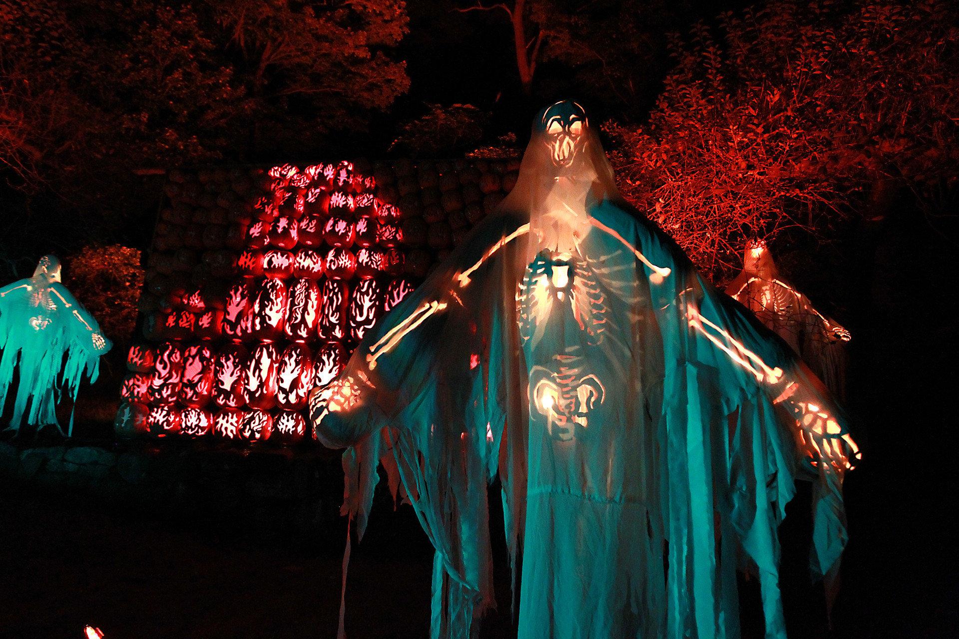 activities art festive halloween lights night pumpkins Trip Ideas color lit performance art dark darkness light musical theatre