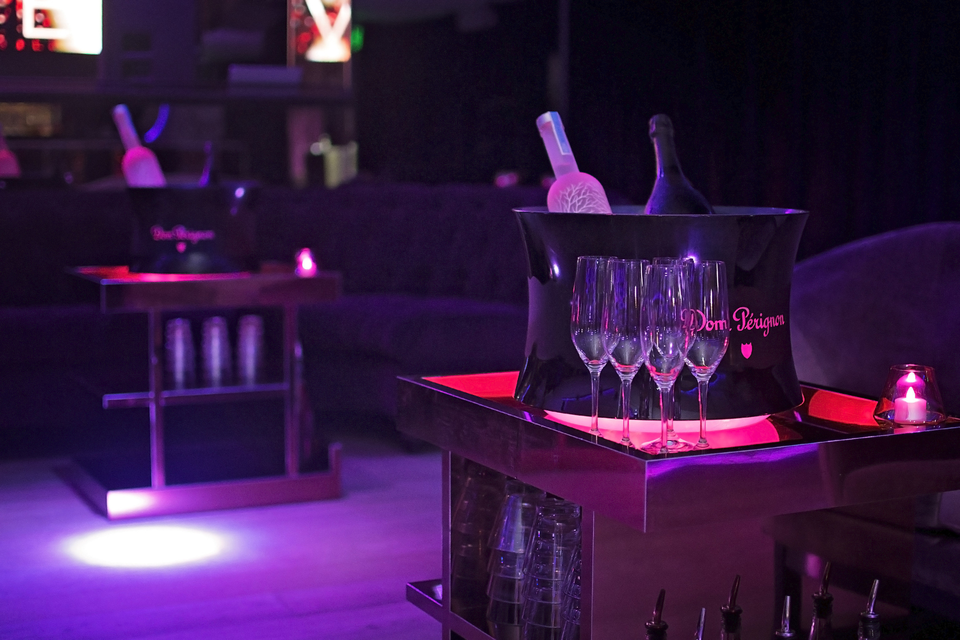 Trip Ideas indoor candle lit stage nightclub disco lighting Bar musical theatre purple scenographer dark