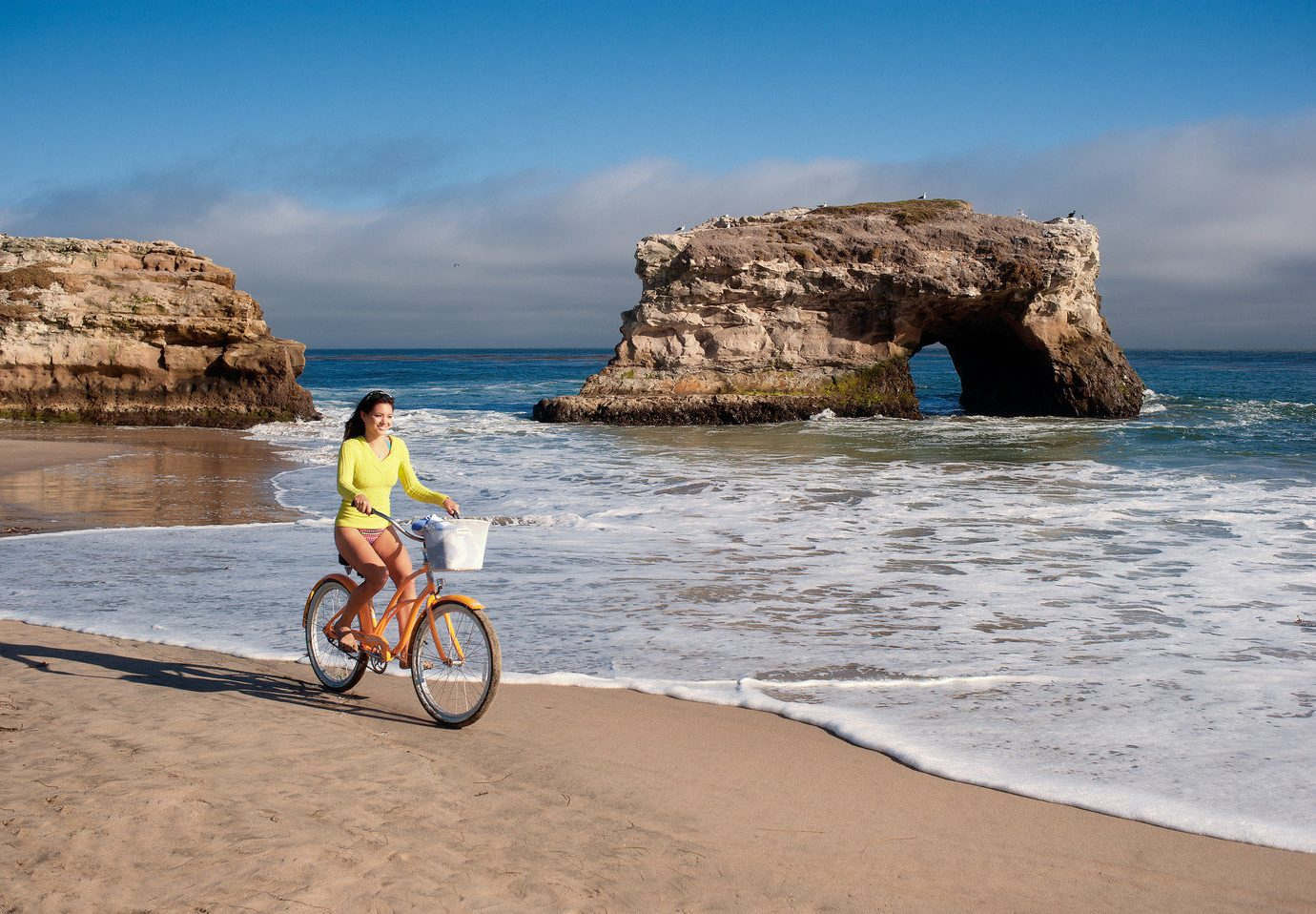 Trip Ideas outdoor sky water ground bicycle rock Beach Coast Sea body of water shore Ocean vacation vehicle Nature cape sand cliff bay wave terrain sandy