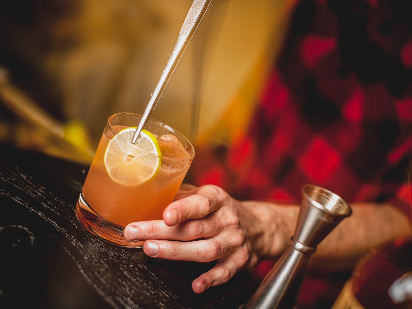 Food + Drink Trip Ideas person Drink indoor alcoholic beverage cocktail alcohol distilled beverage liqueur sense