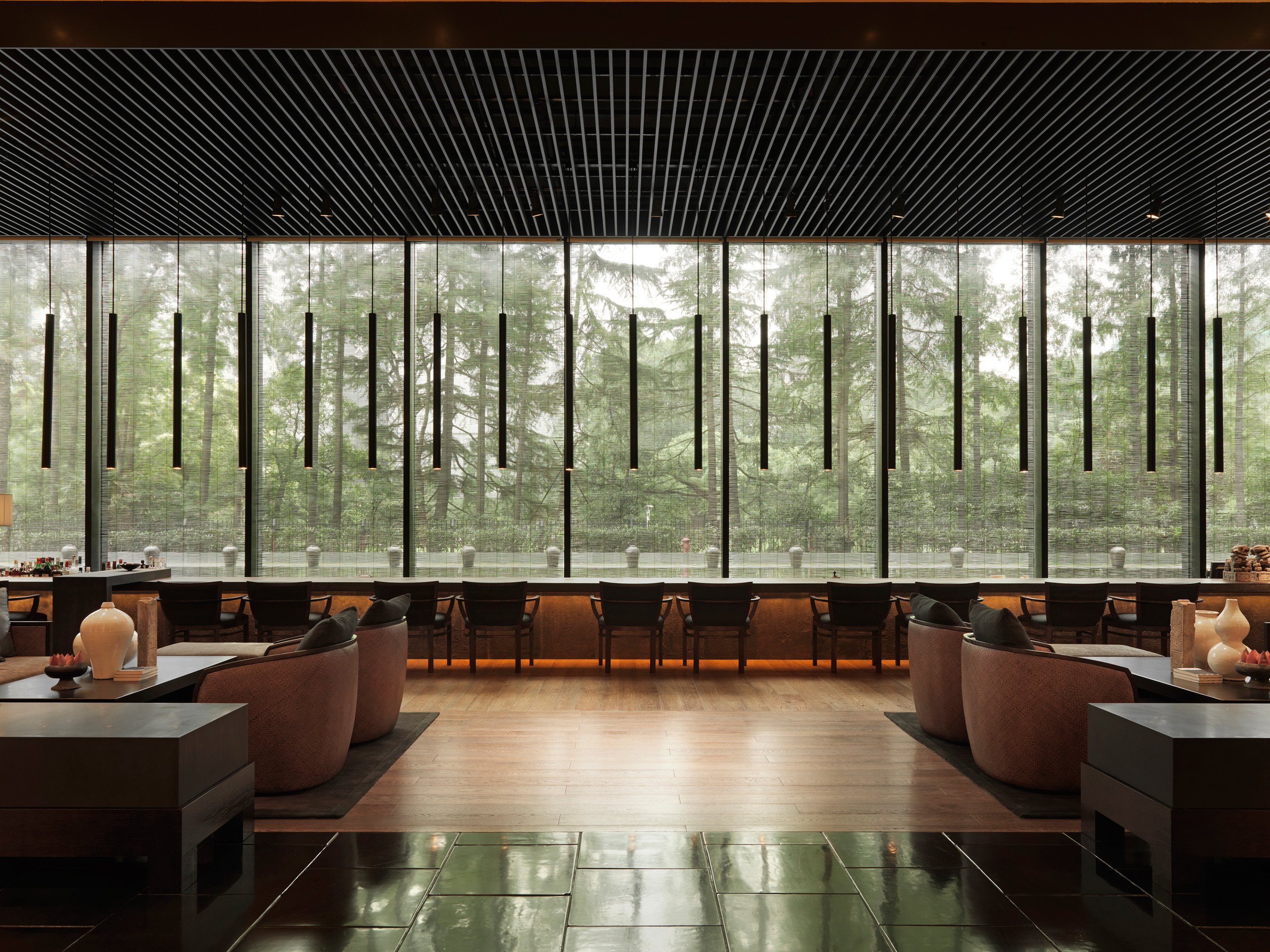 Elegant Hip Hotels Living Lounge Luxury Modern Trip Ideas indoor Lobby Architecture interior design window covering Design estate professional auditorium headquarters several