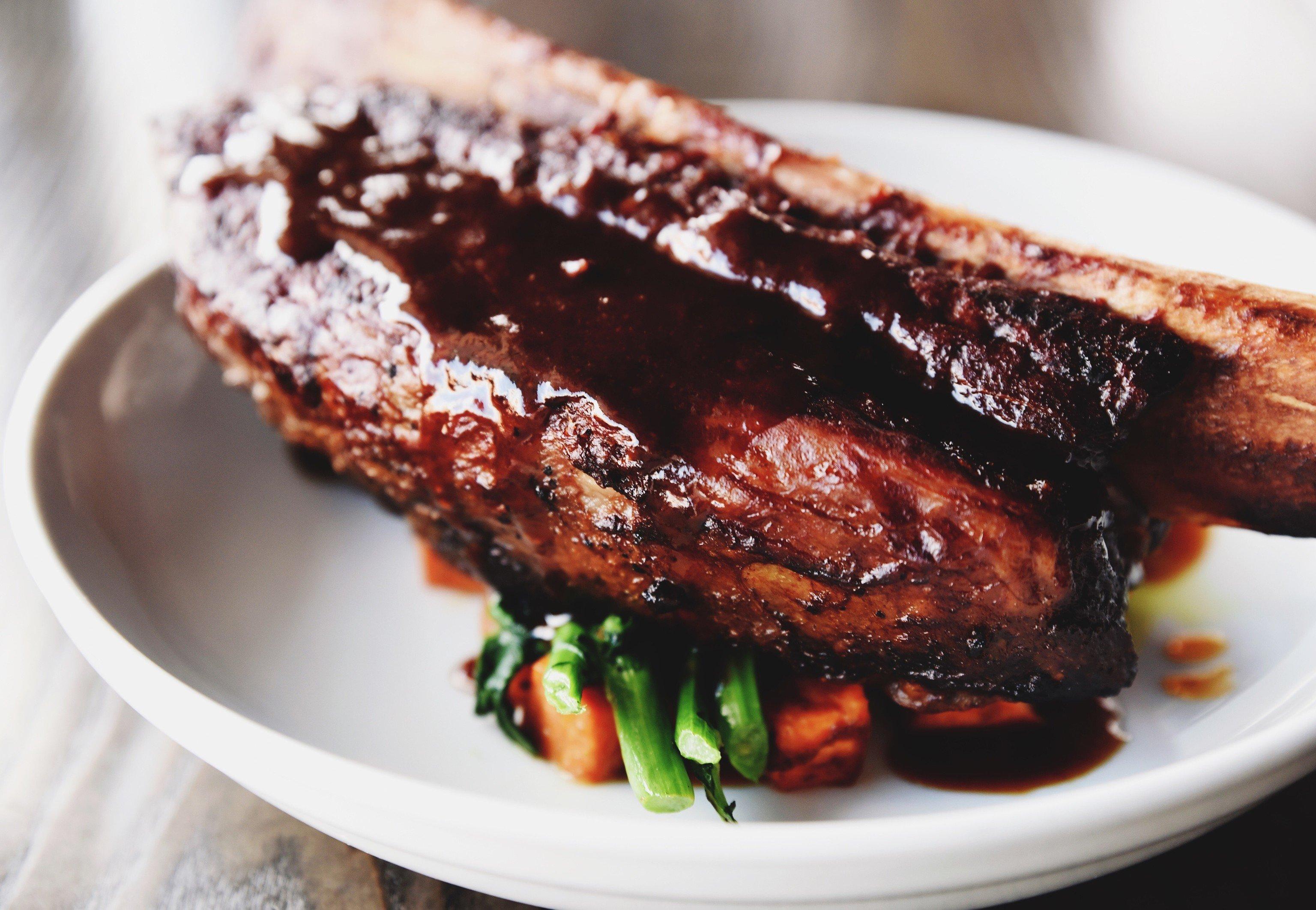 Trip Ideas plate food indoor dish meat white piece chocolate produce meal steak cuisine ribs close piece de resistance