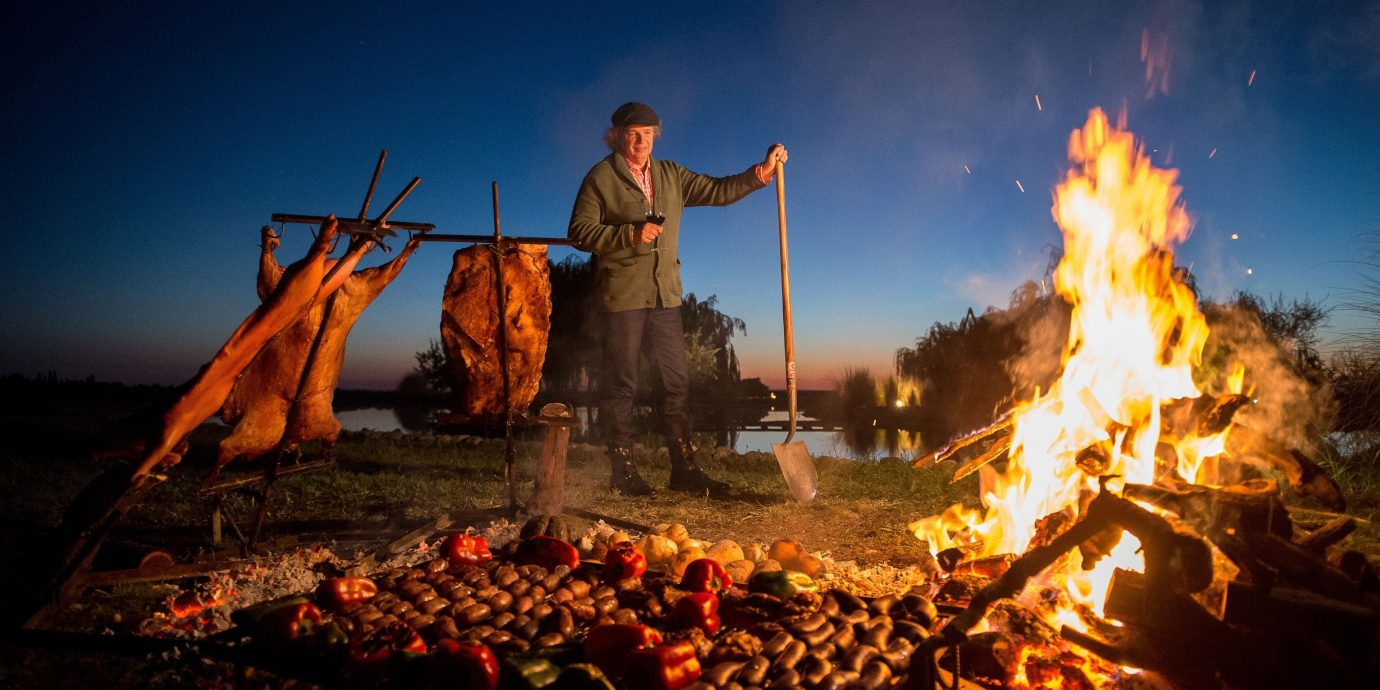 Food + Drink outdoor Nature fire campfire bonfire light geological phenomenon dark