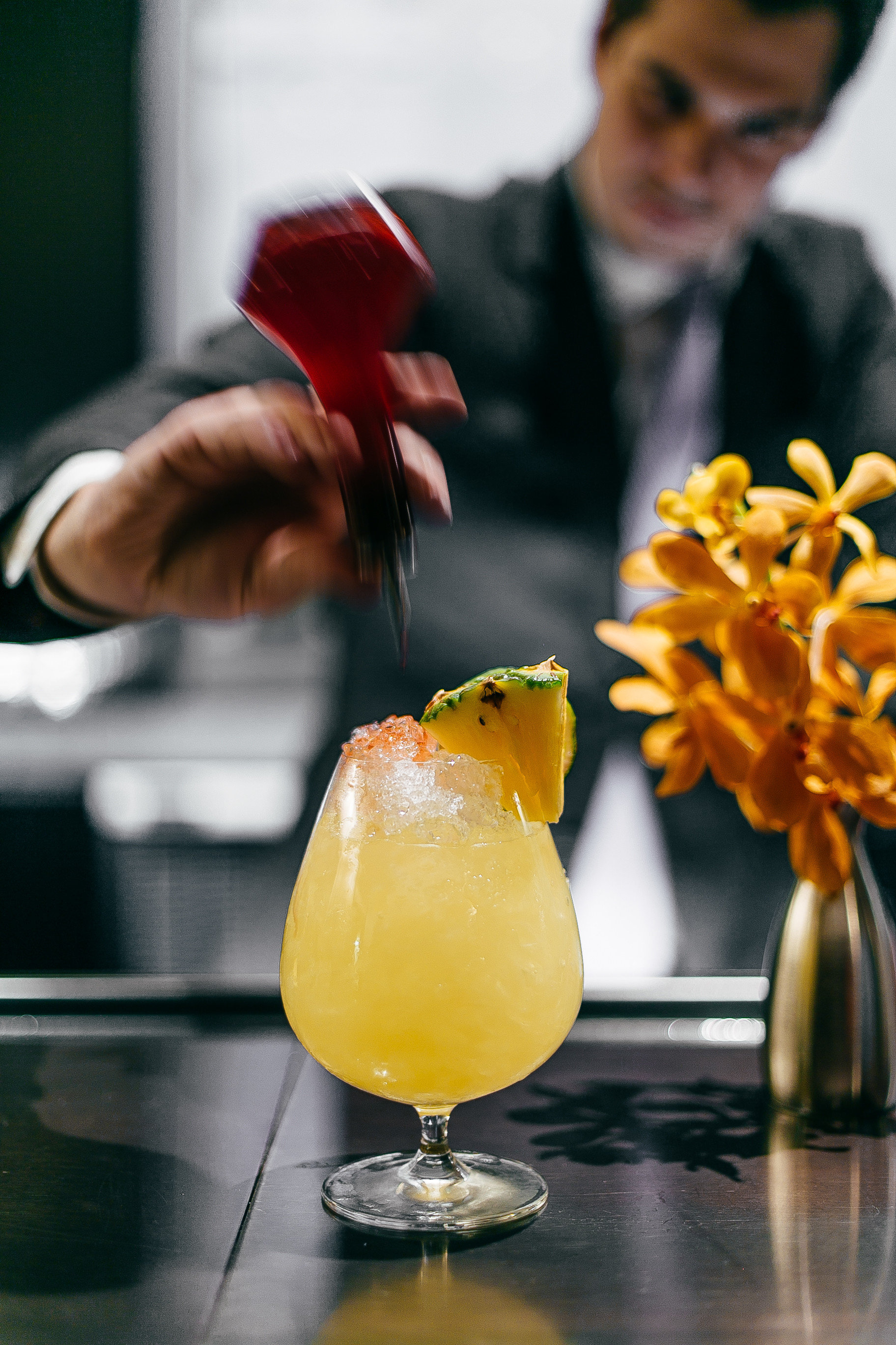 Boutique Hotels Food + Drink Hotels person indoor yellow Drink alcoholic beverage cocktail produce