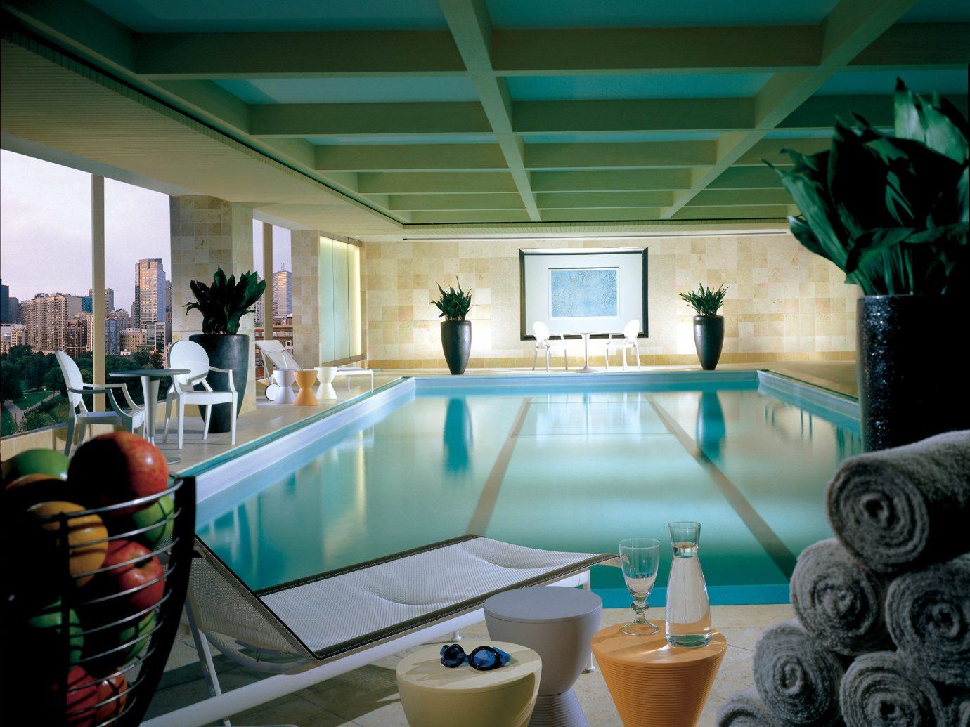 City Elegant Hotels Lounge Luxury Patio Pool Scenic views indoor green swimming pool leisure room estate interior design Design Resort