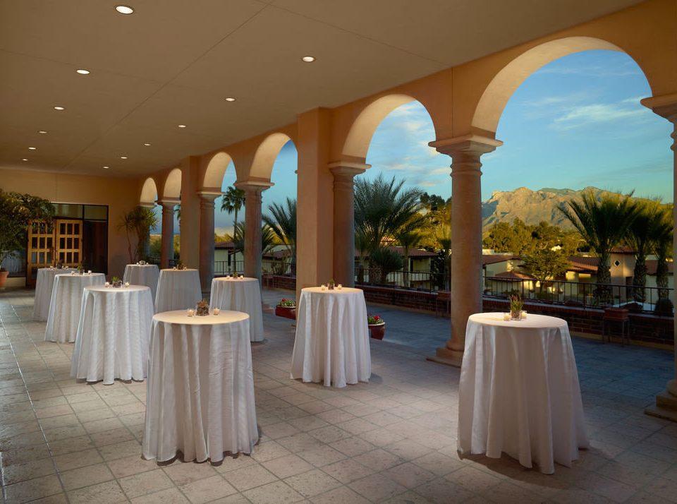 function hall aisle ceremony restaurant arch ballroom Resort colonnade
