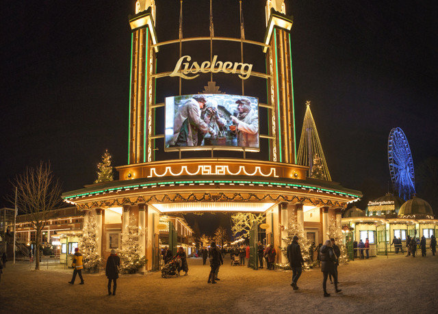 landmark night amusement park amusement ride park evening Resort