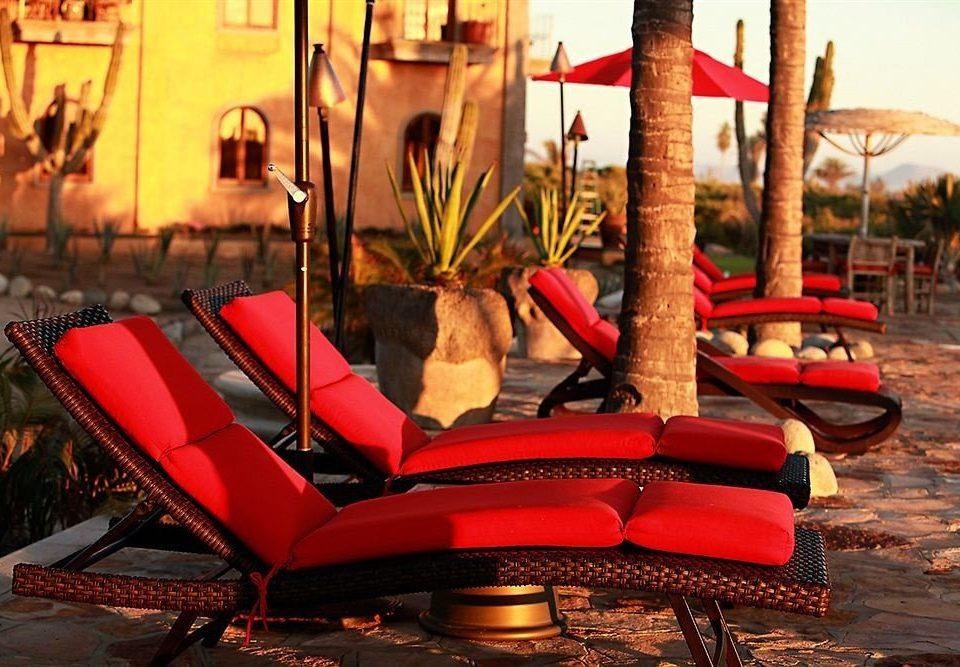 leisure red chair amusement park Resort