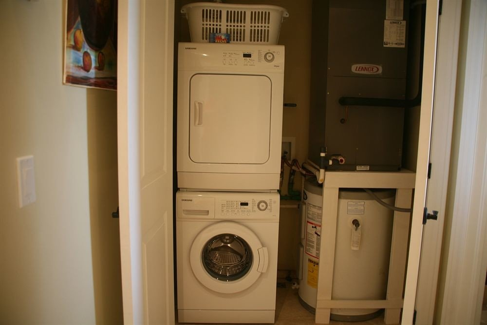 Resort appliance white laundry laundry room white goods home clothes dryer open kitchen appliance
