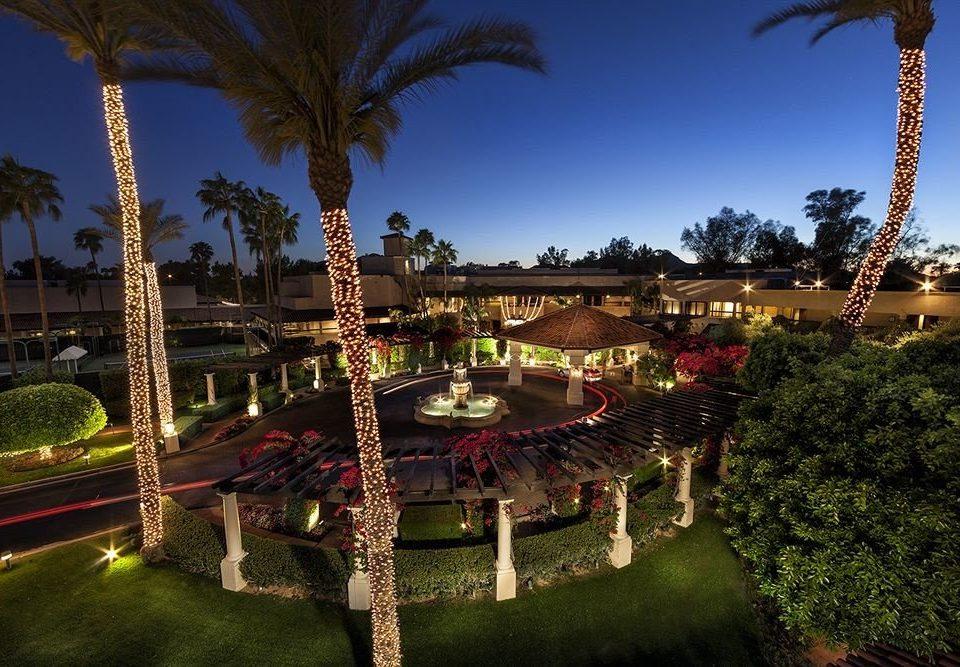 sky tree night Resort arecales mansion flower landscape lighting palace