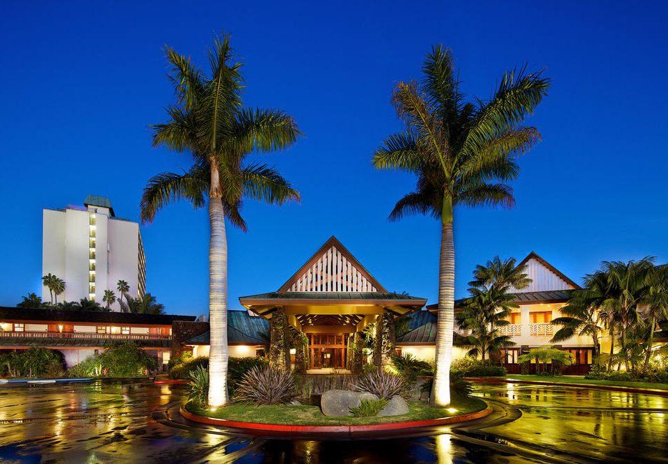 tree sky landmark Resort arecales palace temple