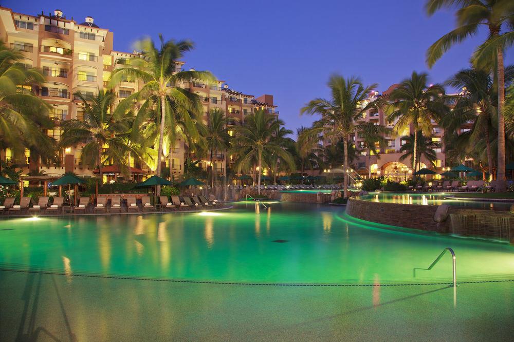 water Resort swimming pool resort town arecales night