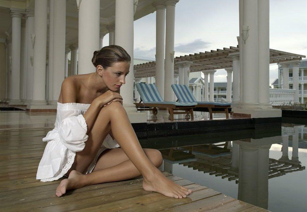 Resort sitting clothing human positions leg model art model