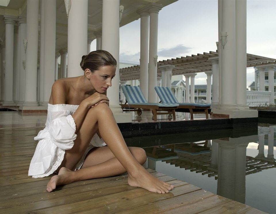 Resort sitting clothing human positions leg model art model