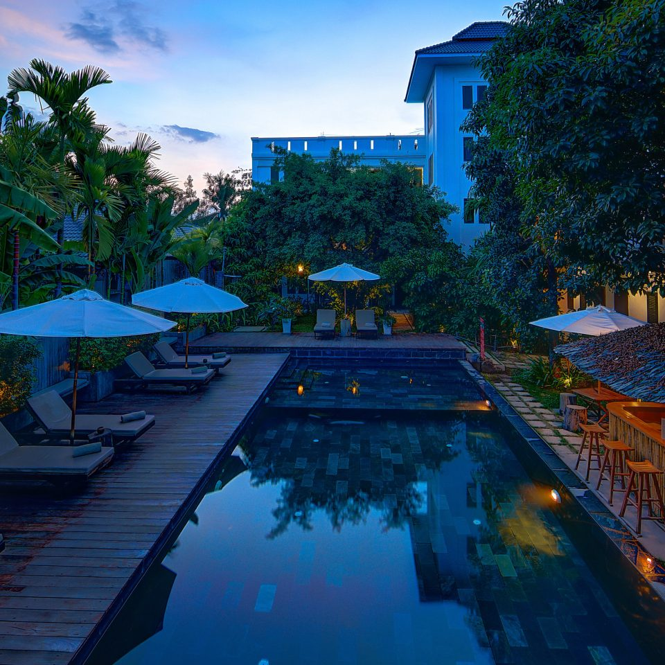 tree sky swimming pool leisure Resort backyard screenshot blue colorful
