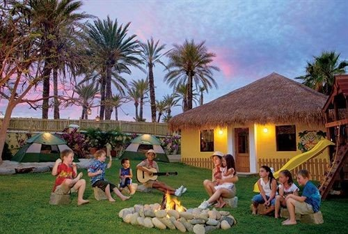 grass tree Resort backyard