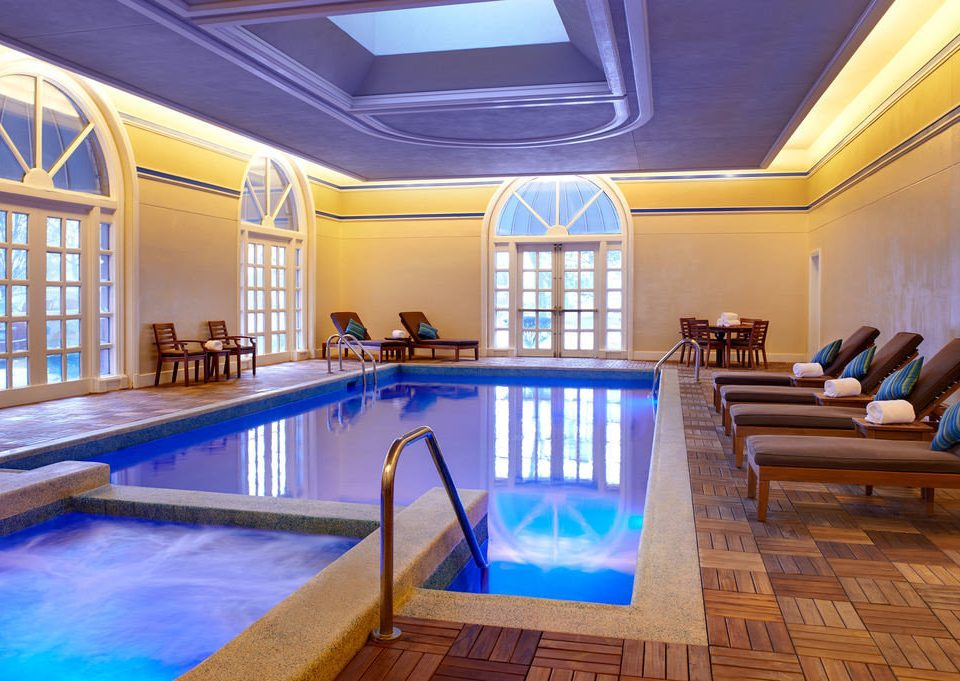swimming pool property leisure billiard room recreation room Resort mansion function hall blue