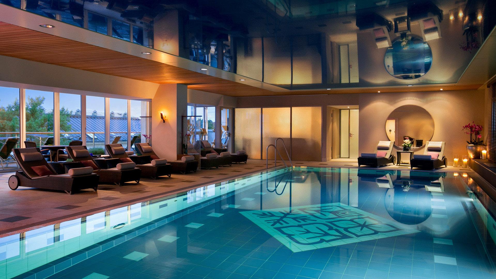 swimming pool property leisure Resort billiard room mansion blue