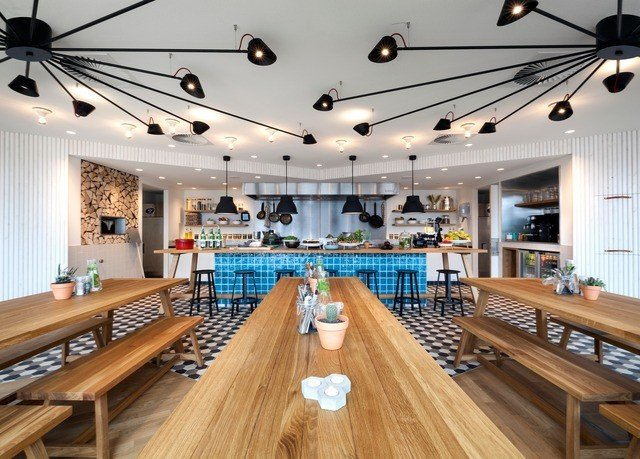 wooden recreation room billiard room bowling Resort restaurant counter