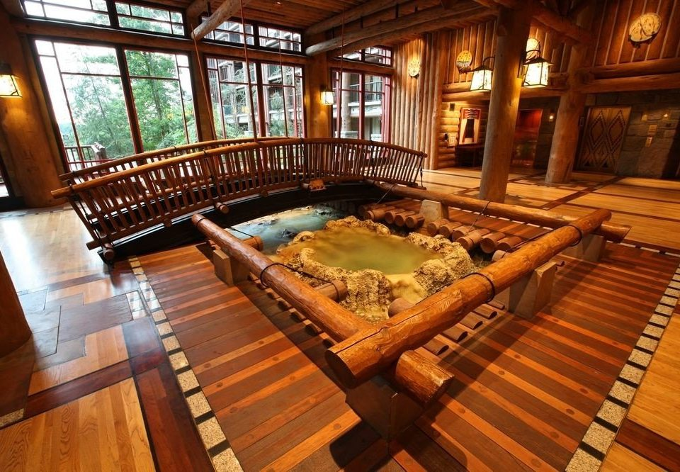 wooden building Resort billiard room swimming pool mansion screenshot eco hotel dining table