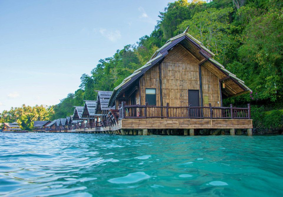 water tree house swimming pool Resort hut cottage blue boathouse swimming