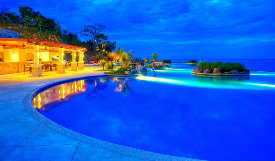 sky swimming pool Resort blue resort town bright