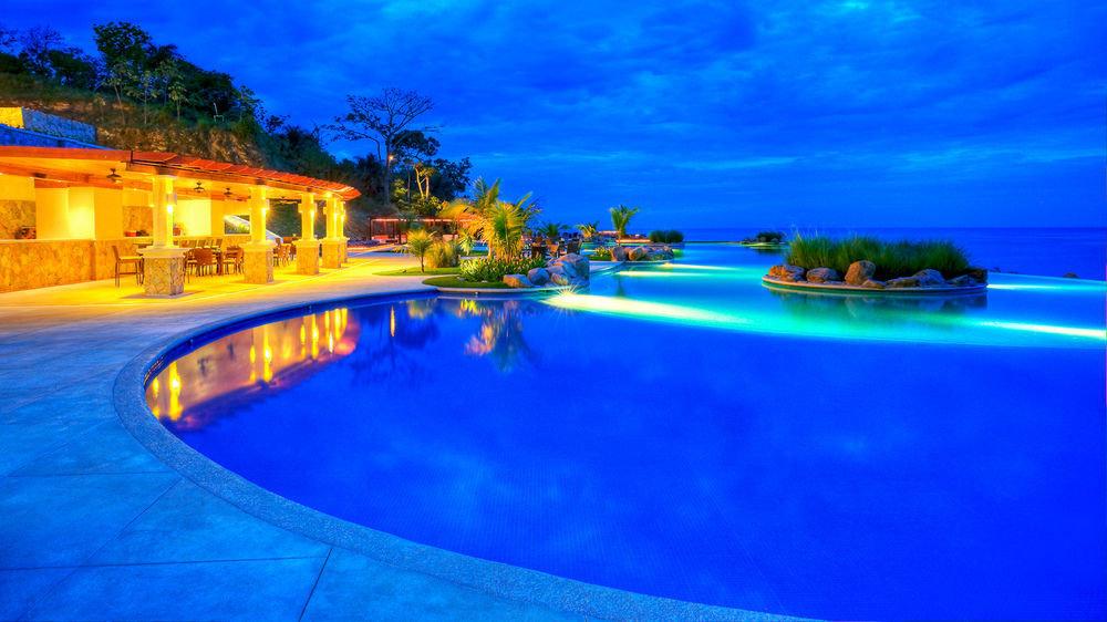 sky swimming pool Resort blue resort town bright