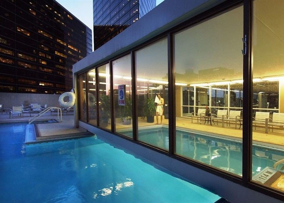swimming pool property leisure condominium Resort leisure centre lighting blue