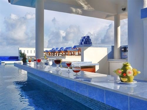 swimming pool Resort counter blue