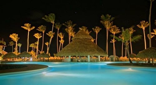 Resort swimming pool lighting landscape lighting blue