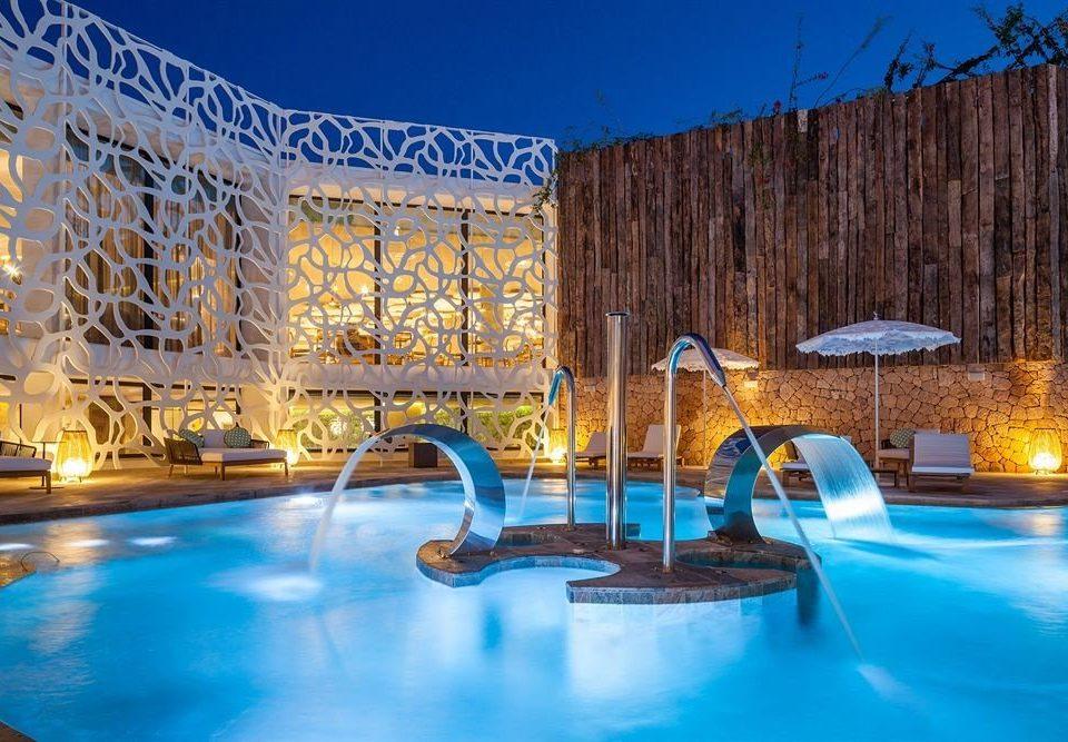 swimming pool leisure property Resort resort town blue