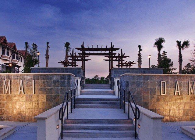 sky building Resort walkway dock waterway boardwalk stair step
