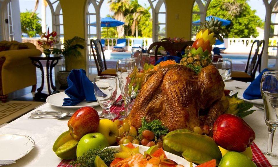 food plate lunch restaurant fruit brunch Resort dinner flower fresh dining table